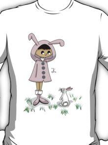Hoodie Girl -- Bunny T-Shirt