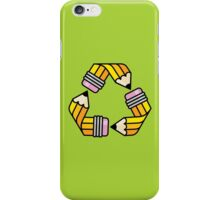 Creativity Cycle (Yellow School Pencil) iPhone Case/Skin