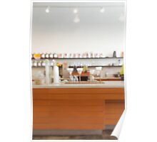 Defocused Coffee Shop Counter Poster