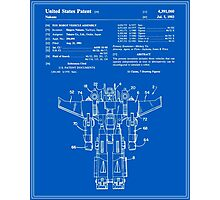 Transformers Patent - Blueprint Photographic Print