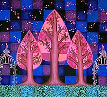 Midnight in the Garden by Lisa Frances Judd~QuirkyHappyArt