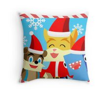 Minecraft Youtuber Stampy Cat, iBallisticsquid, L for Lee x (Christmas, Holiday, Winter Limited Edition) Throw Pillow