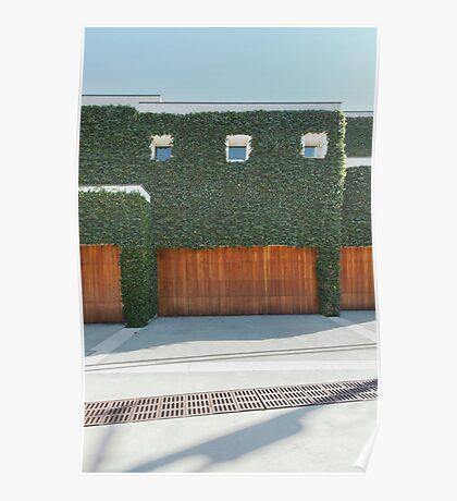 Overgrown Modern House Poster