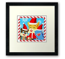 Minecraft Youtuber Stampy Cat, iBallisticsquid, L for Lee x (Christmas, Holiday, Winter Limited Edition) Framed Print