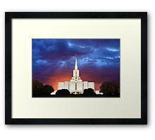 Jordan River Temple Stormy Sunset 30x20 Framed Print