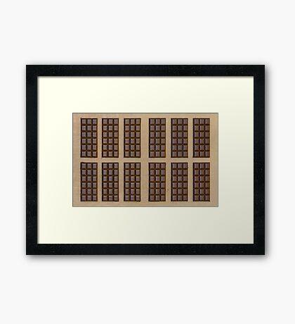 Twelve Chocolate Bars Framed Print