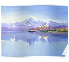 Aoraki (Mount Cook) and Lake Pukaki Poster