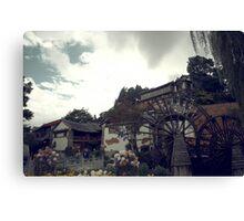 Mill Wheel, Lijiang Canvas Print