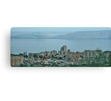 From Tveria to the Kineret in Pastel Blue Canvas Print