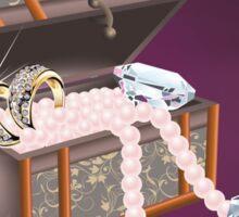 jewelry box vektor art / diamonds and pearls  Sticker
