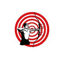 Archer Bow Arrow Target by patrimonio