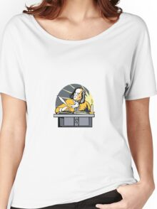 Ben Franklin Writing Retro Women's Relaxed Fit T-Shirt