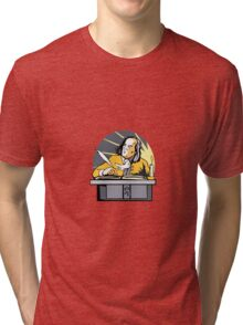 Ben Franklin Writing Retro Tri-blend T-Shirt