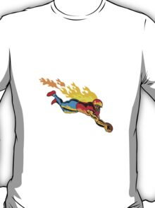 Football Touchdown Flames T-Shirt