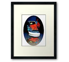 ✾◕‿◕✾SNEAKER REFLECTION TEE SHIRT (UNISEX TEE SHIRTS)✾◕‿◕✾ Framed Print