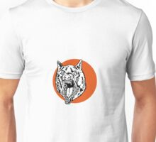 Wild Dog Wolf Retro Unisex T-Shirt