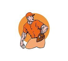American Baseball Player Pitcher by patrimonio