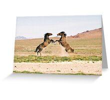 Showdown in the Desert Greeting Card