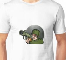 Soldier Aiming Bazooka Unisex T-Shirt