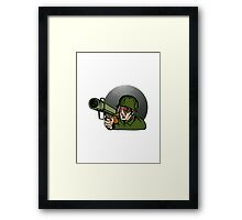 Soldier Aiming Bazooka Framed Print