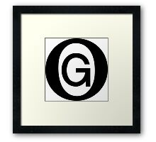 OG Black Framed Print