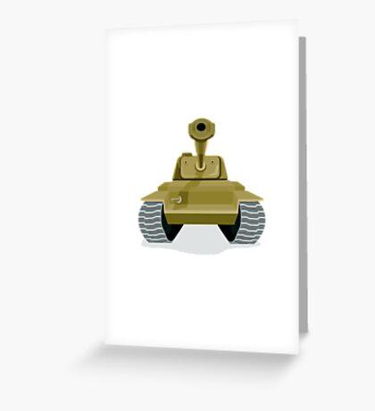 World War Two Battle Tank Greeting Card