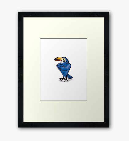 Toucan with Arms Folded Framed Print