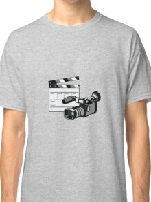 Video Camera Movie Clapboard Retro Classic T-Shirt