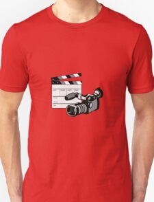 Video Camera Movie Clapboard Retro Unisex T-Shirt