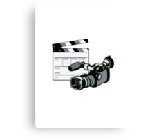 Video Camera Movie Clapboard Retro Canvas Print