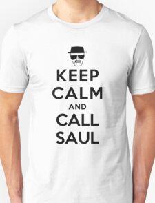 Keep Calm and Call Saul - black color Unisex T-Shirt