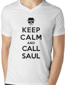 Keep Calm and Call Saul - black color Mens V-Neck T-Shirt