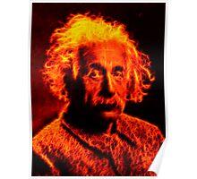 Glow - Einstein (Fire) Poster