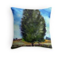 Tree - acryl Throw Pillow
