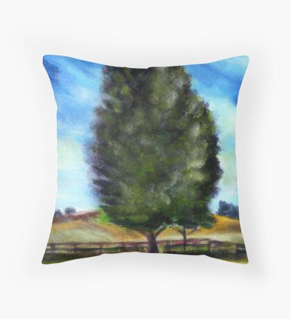 Tree - acryl Throw Pillow