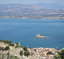 Nafplio from Palamidi by Eleanor11