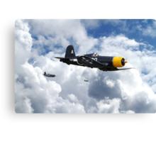 Vought Corsair - Mission Strike Canvas Print