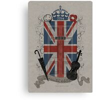 Sherlock Holmes inspired crest Canvas Print