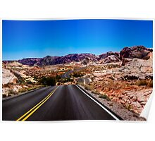 Winding Road in The Valley of Fire Poster