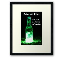 Atomic Beer - For that Authentic Afterglow  Framed Print
