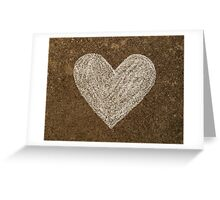 Chalk Heart  Greeting Card