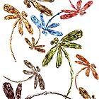 Dragonfly Frenzy Rainbow by lyndseyart
