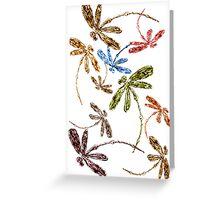 Dragonfly Frenzy Rainbow Greeting Card