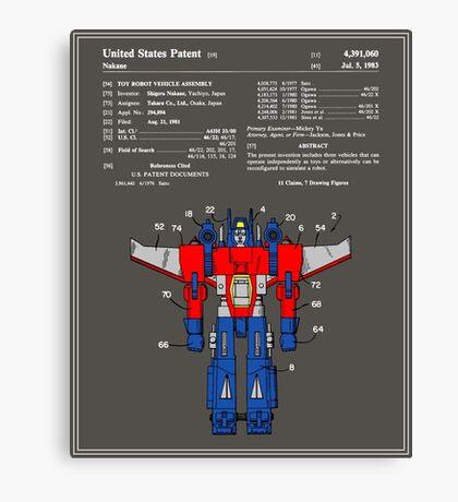 Transformers Patent - Colour Canvas Print