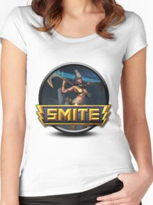 Smite Neith Logo Women's Fitted Scoop T-Shirt