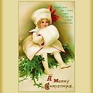 A Merry Christmas-Vintage Child by Yesteryears