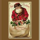 Merry Christmas-Santa with Gifts by Yesteryears
