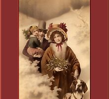 Through the Woods Holiday Greeting Card by Yesteryears