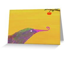 hungry bird Greeting Card