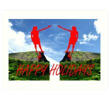 HAPPY HOLIDAYS 42 Art Print
